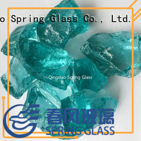 Spring Glass good selling crushed colored glass for kitchen