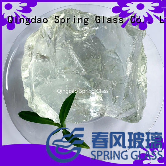Spring Glass dark fire glass rocks for busniess for garden