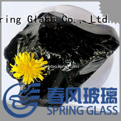 dark landscaping glass rocks supplier for garden