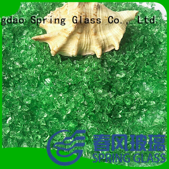 Dark green crushed glass