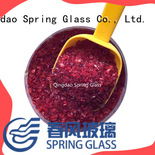 decorative crushed glass supplier for kitchen Spring Glass