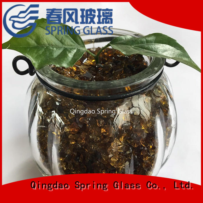 Spring Glass superior quality gold crushed glass for sale
