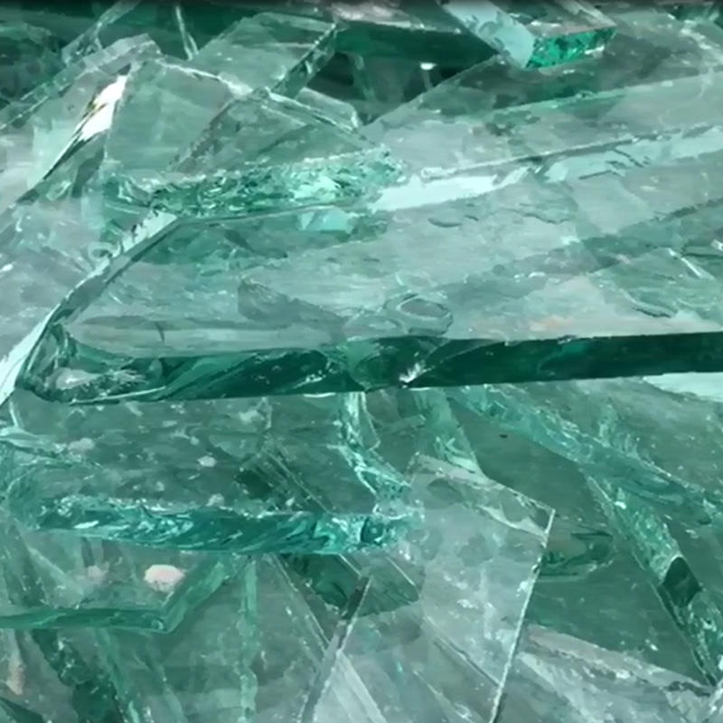 Clear crushed glass