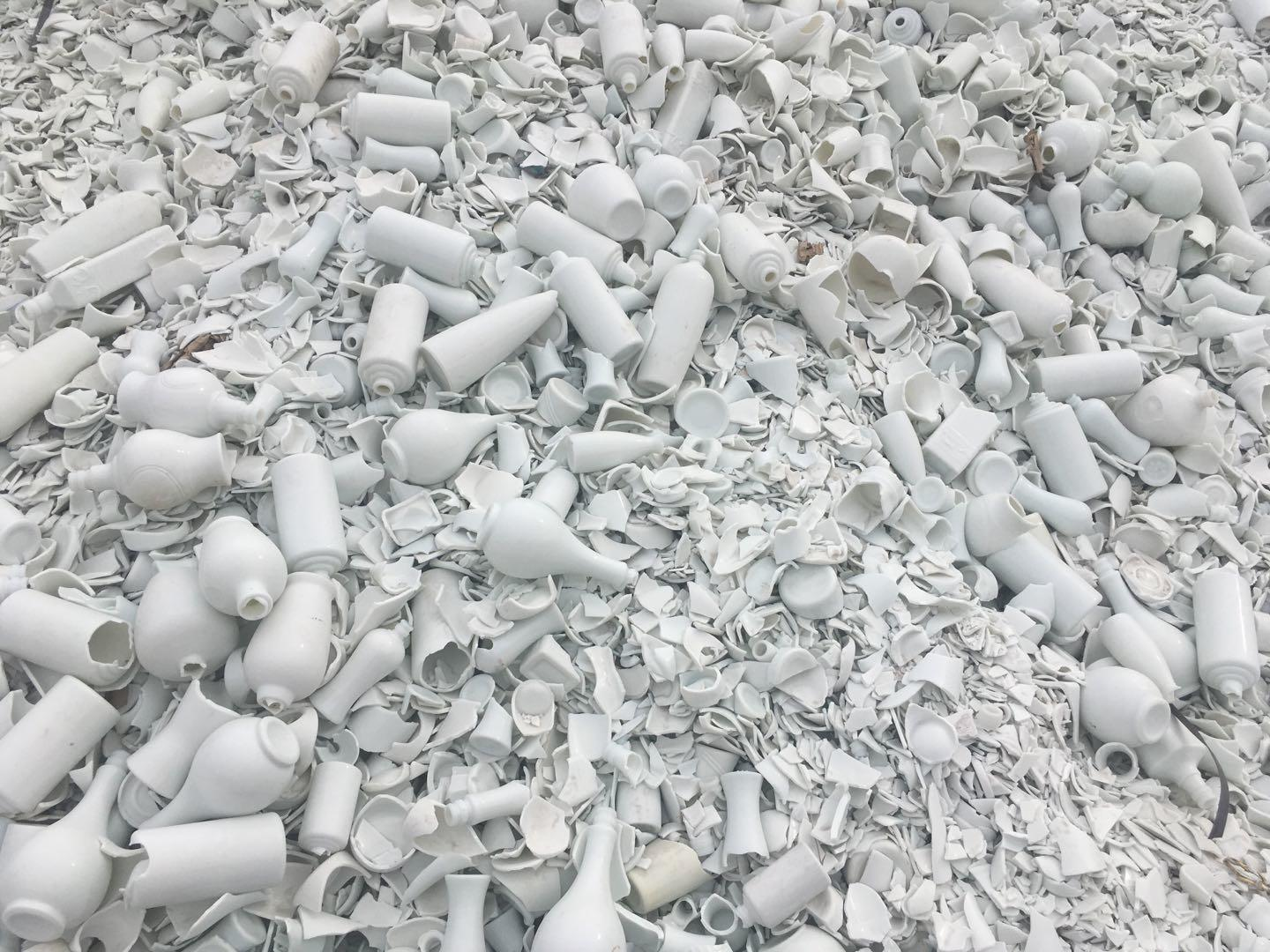 White glass chips