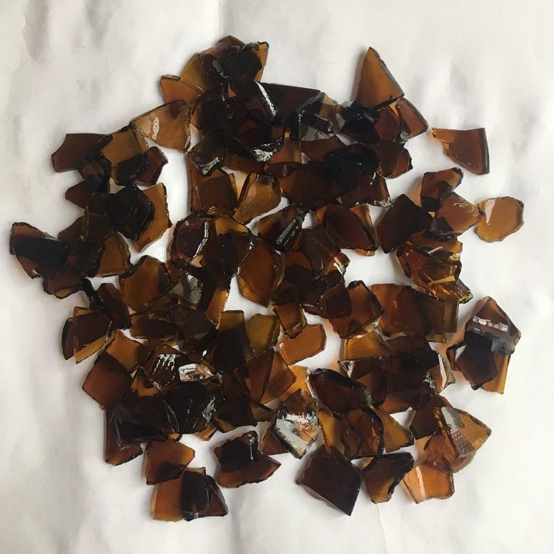Amber bottle glass cullet