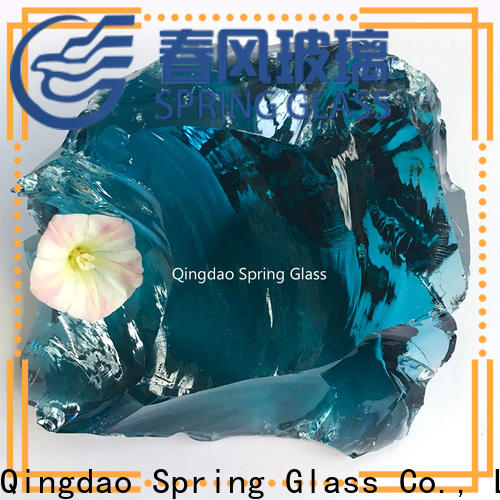 Spring Glass normal landscaping glass rocks supplier for garden
