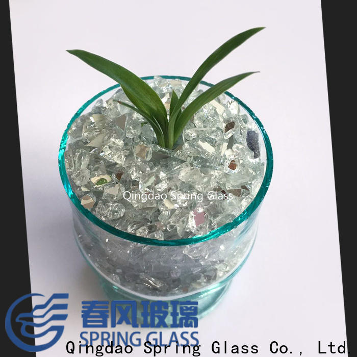 Spring Glass mirror chips factory for decoration