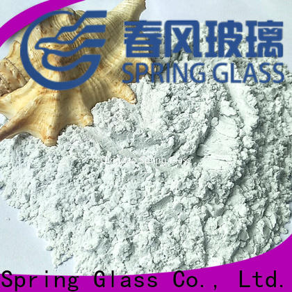 Spring Glass white crushed glass powder company for paving