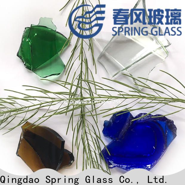 Spring Glass sheet cullet manufacturer for fire place