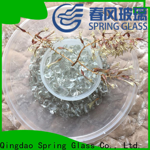 high quality glass gravel manufacturer for decoration
