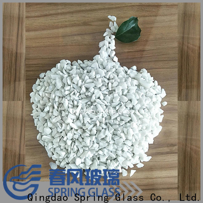 Spring Glass black recycled crushed glass factory for kitchen