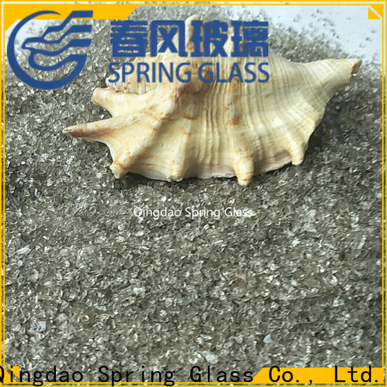 Spring Glass super white recycled crushed glass manufacturer for floor