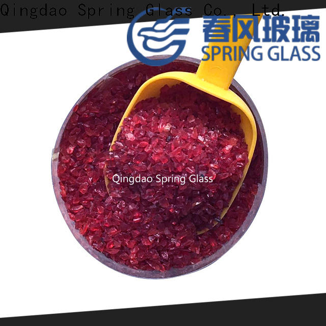 Spring Glass crushed glass supplier for decoration