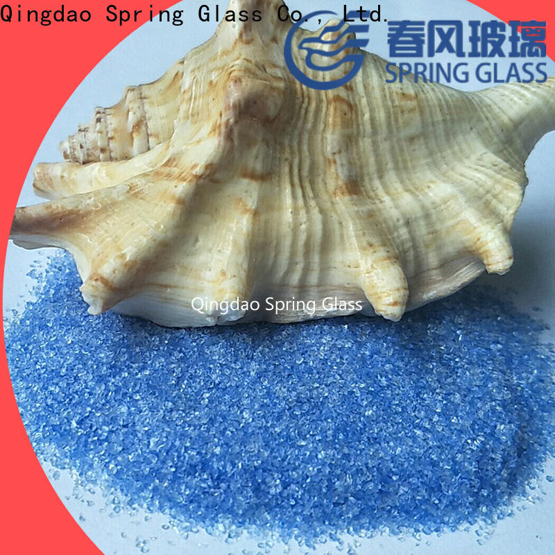Spring Glass porcelain crushed glass manufacturer for kitchen