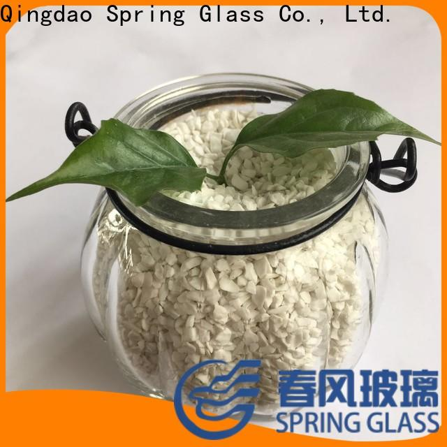 Spring Glass tawny crushed glass supplier for decoration