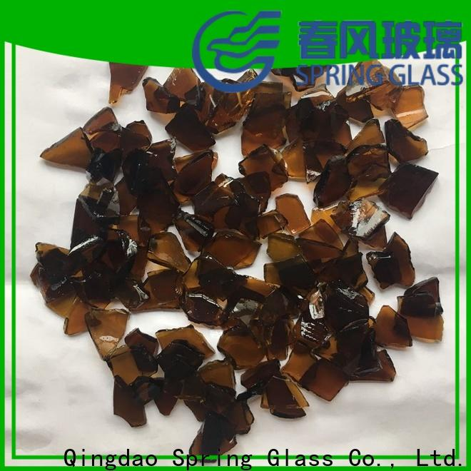 Spring Glass float cullet fast delivery for fire place