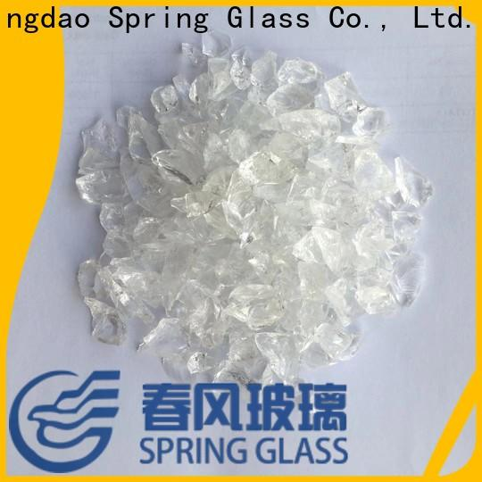 Spring Glass top crushed glass manufacturer for decoration