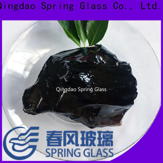 Spring Glass landscaping glass rocks supplier for decoration