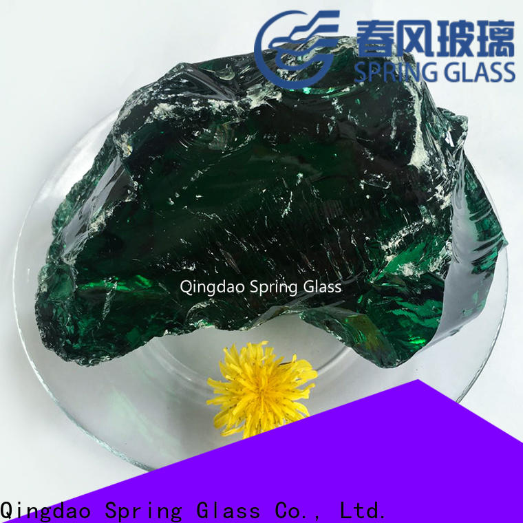 Spring Glass fire glass rocks supplier for home