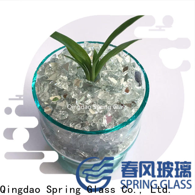 Spring Glass mirror chips for busniess for engineered stone