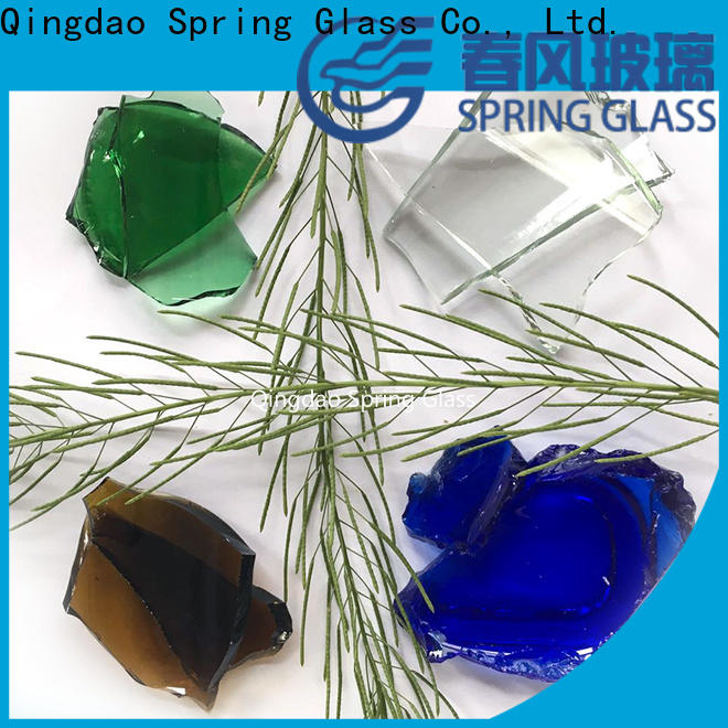 Spring Glass top cullet chips for fire bottle