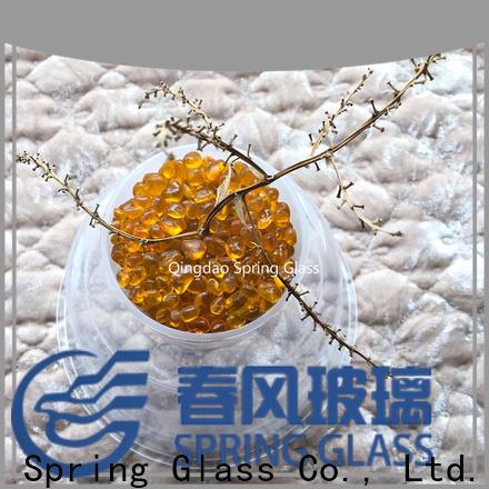 Spring Glass glass pebble for busniess for garden