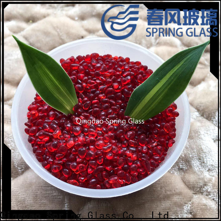 Spring Glass yellow glass bead supplier for home