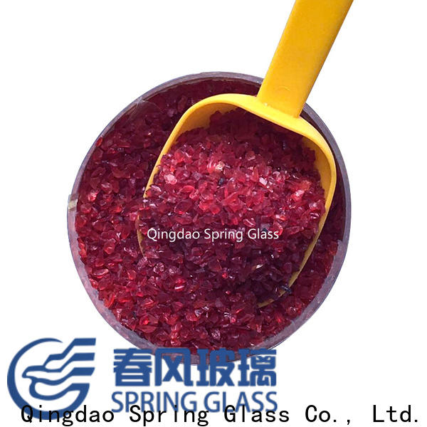 Spring Glass decorative crushed glass company for floor