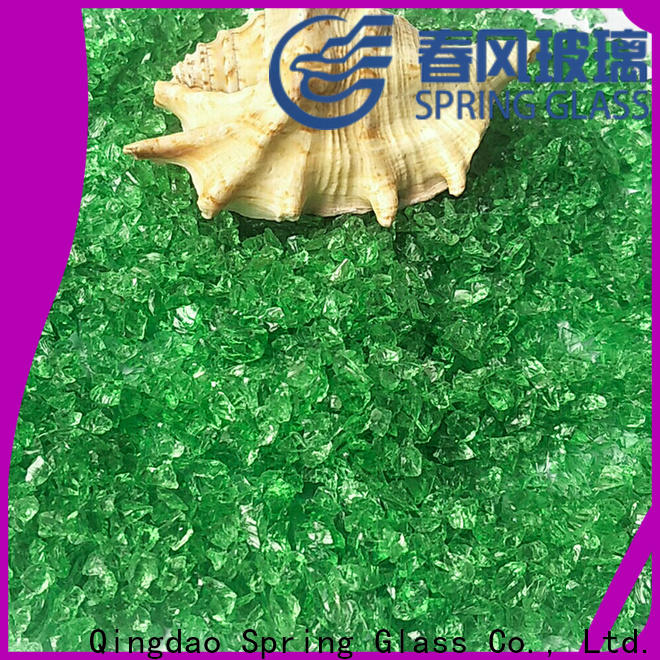 Spring Glass recycled crushed glass for busniess for decoration