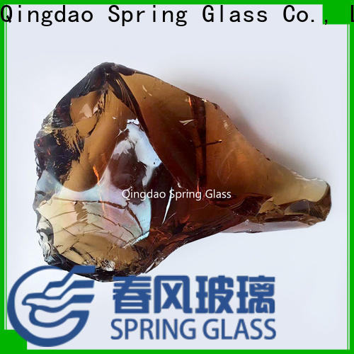 amber fire glass rocks factory for square