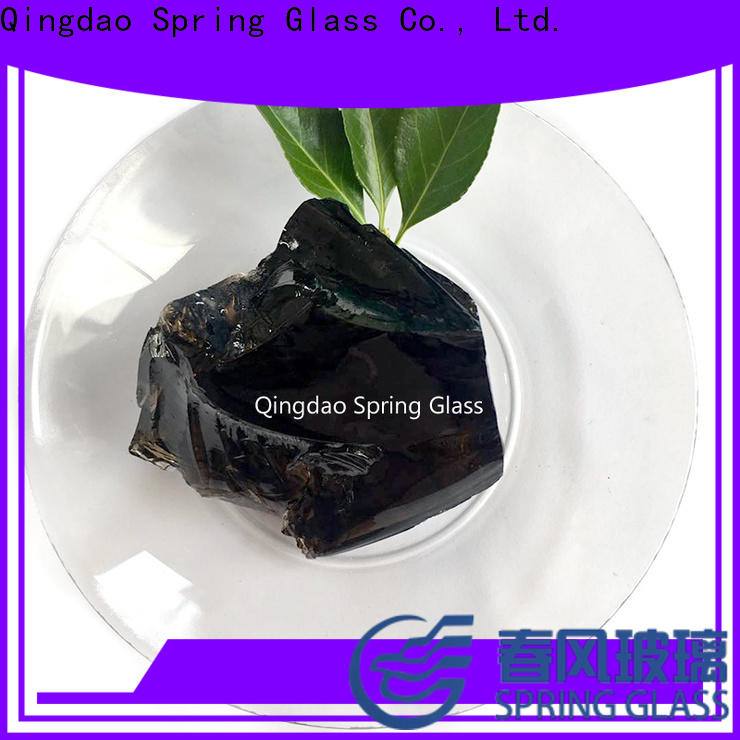 Spring Glass amber glass rocks company for home