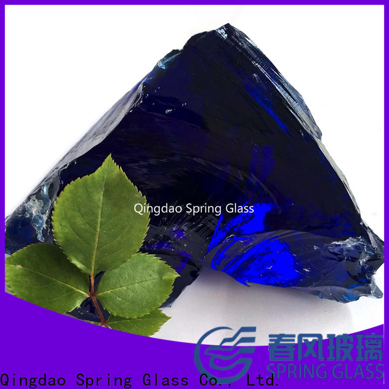 Spring Glass fire landscaping glass rocks factory for decoration
