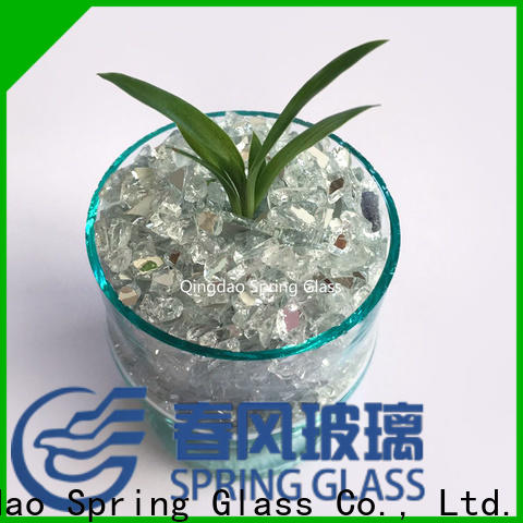 Spring Glass crushed mirror chips supplier
