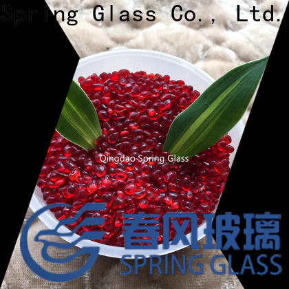 Spring Glass red glass gravel supplier for home