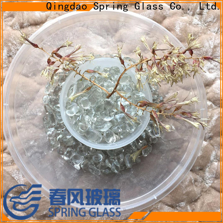 Spring Glass glass pebble company for garden