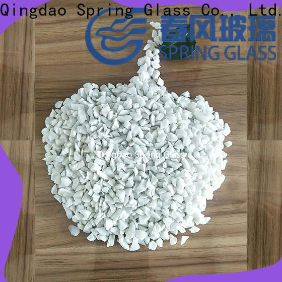Spring Glass green crushed glass manufacturer for decoration
