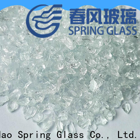 Spring Glass tawny crushed glass company for decoration