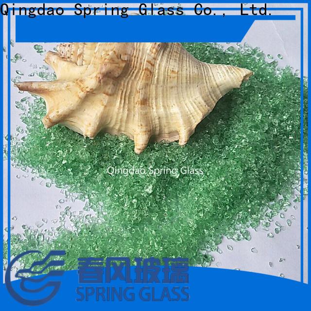 Spring Glass porcelain crushed glass manufacturer for decoration