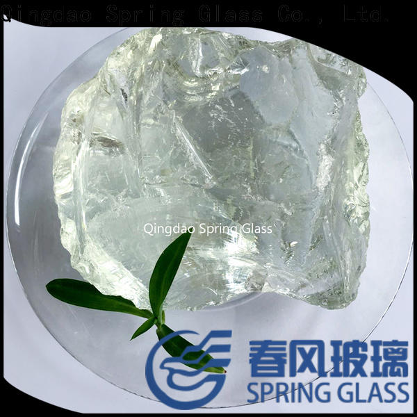 Spring Glass fire glass rocks for busniess for square