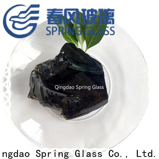 Spring Glass super white glass rocks for busniess for garden
