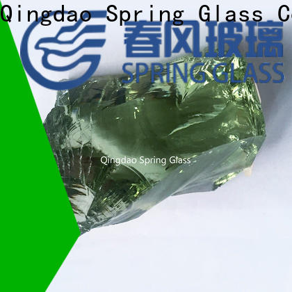 Spring Glass sky blue glass rocks manufacturer for square