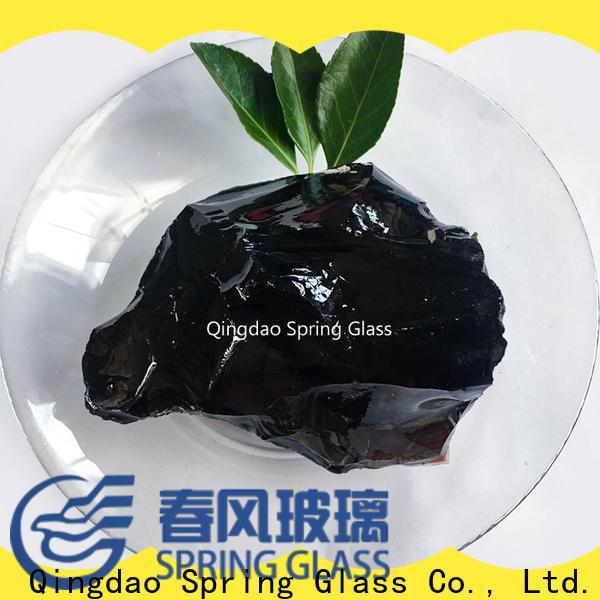 natural landscaping glass rocks manufacturer for garden