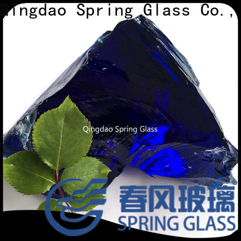 Spring Glass glass rocks factory for square