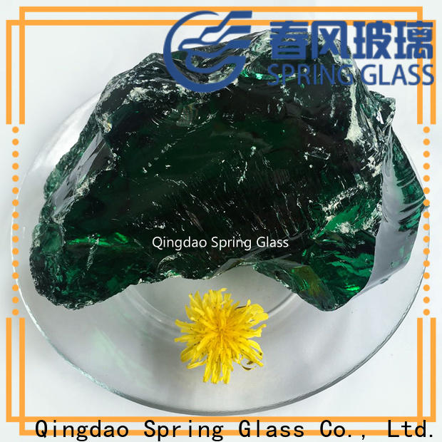 amber landscaping glass rocks supplier for square
