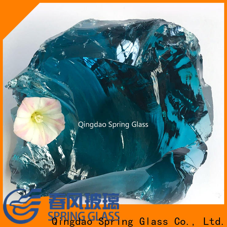 Spring Glass green glass rocks supplier for square