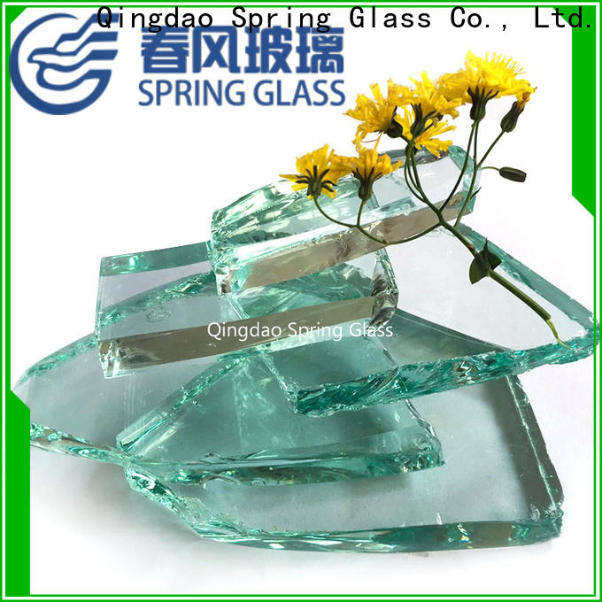 Spring Glass bottle cullet company for fire pit