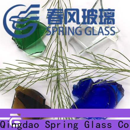 Spring Glass float glass cullet fast delivery for fire bottle