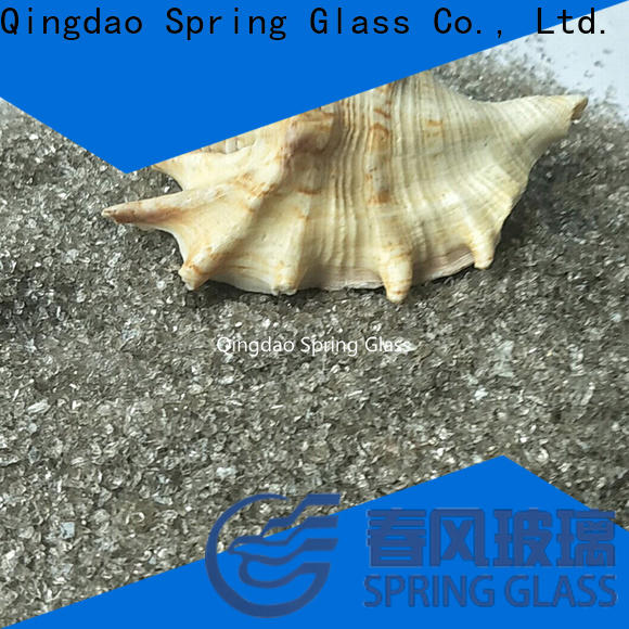 Spring Glass sky blue decorative crushed glass manufacturer for decoration