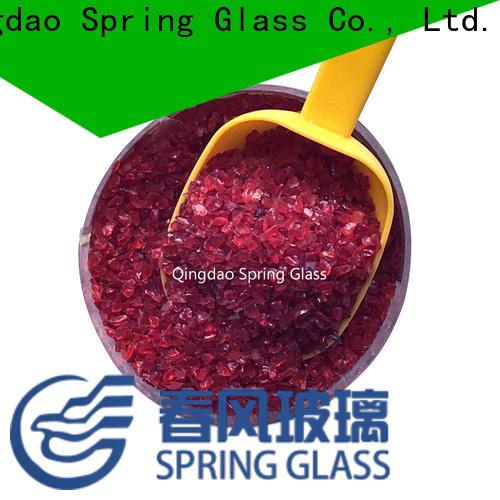 Spring Glass green decorative crushed glass factory for sale