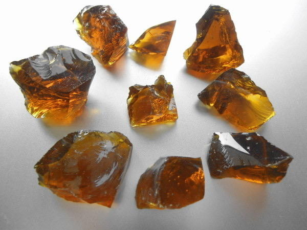Amber Glass Stone for Decoration